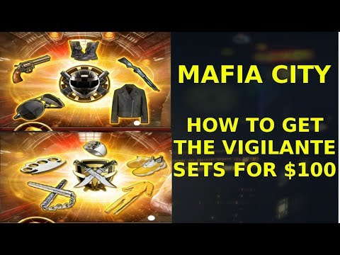 How To Get The Vigilante Sets For 100 Lvl 20 Sets Mafia City Youtube