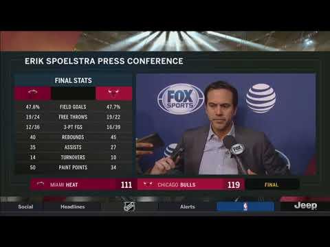 Erik Spoelstra -- Miami Heat at Chicago Bulls 01/15/2018