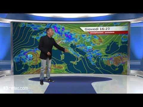 Previsioni meteo Video per giovedi, 24 maggio
