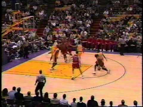 Michael Jordan schools Eddie Jones as Kobe watches on (