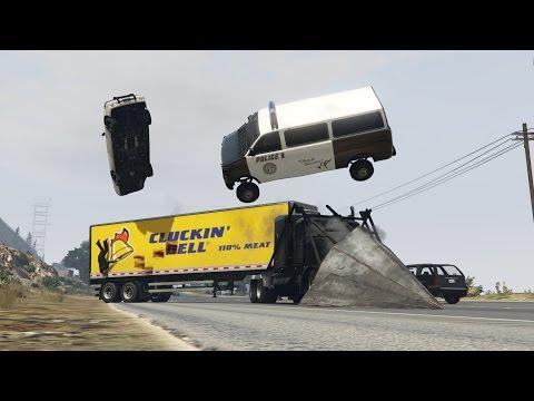 GTA V - Los Santos Truck Simulator - Police Rektelés [HD][Ep.4]