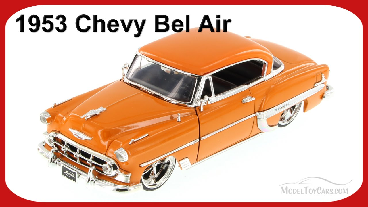 Toys From 1953 : Chevy bel air orange jada toys bigtime kustoms