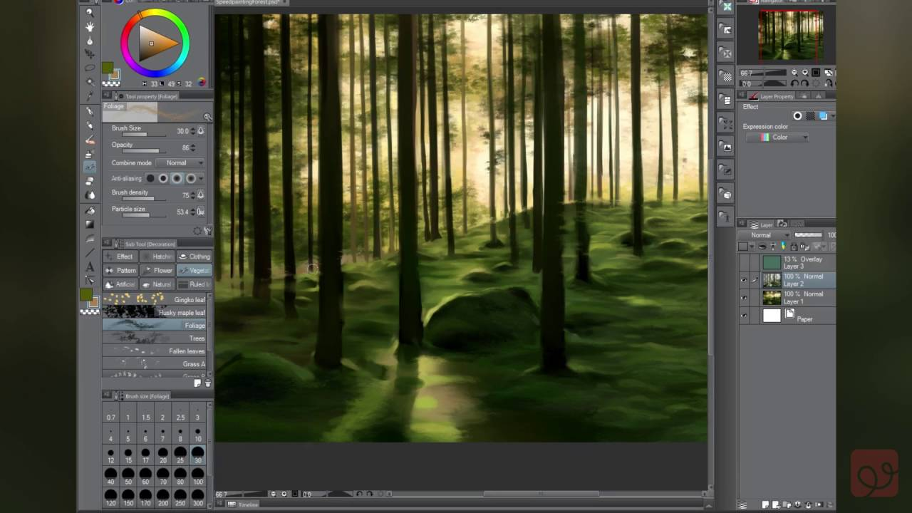 Speed Sketch! Landscape Painting In Clip Studio Paint