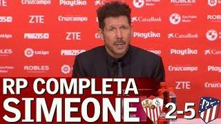 Sevilla 2 - Atlético 5 | Rueda de prensa de Simeone | Diario AS