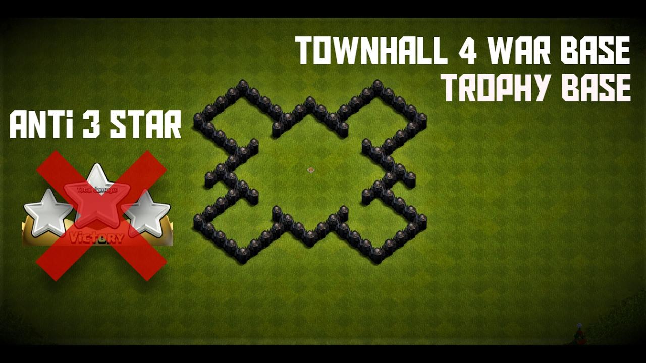 Base Coc Th 4 Anti Bintang 3 4