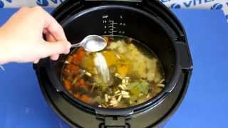 Рецепт приготовления супа с белой фасолью и шампиньонами в мультиварке VITEK VT-4208 CL