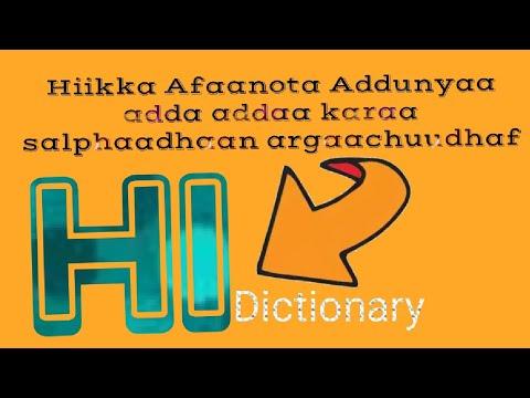 Hiikka Afaanota Addunyaa Adda Adda Karaa Salphaadhaan (best Dictionary To Translate  Languages )