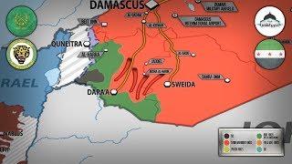 2 июля 2018. Военная обстановка в Сирии. Развал обороны боевиков на юго-западе Сирии.