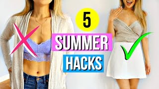 5 Clothing Hacks EVERY Girl Must Know for Summer!