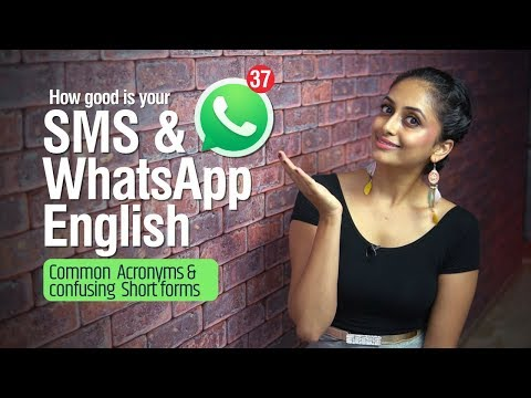 SMS & WHATSAPP English | Popular Internet Slang Words,  Acronyms & Abbreviations In Daily Texting