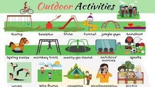 Outdoor Activities Useful List of Outdoor Games in English with Pictures
