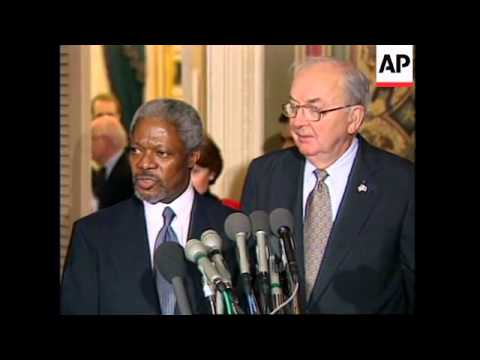 USA: WASHINGTON: PRESIDENT CLINTON PROMISES A WAY TO PAY DEBT TO UN