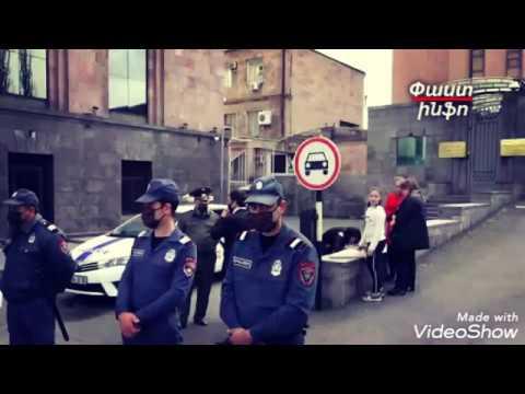 Акция Протеста Против Посольства РФ в Армении,за оставление граждан РФ лицом к лицу с Covid19