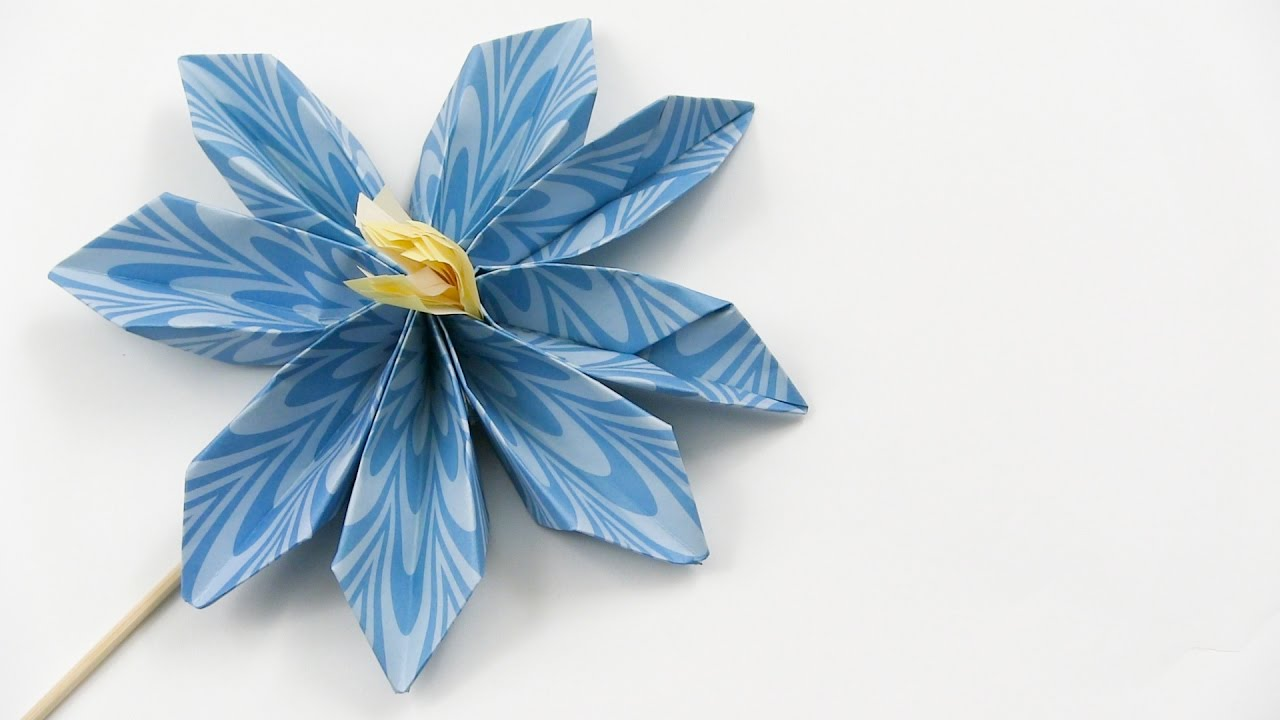 How to make easy beautiful origami forget me not flowers youtube how to make easy beautiful origami forget me not flowers ccuart Image collections