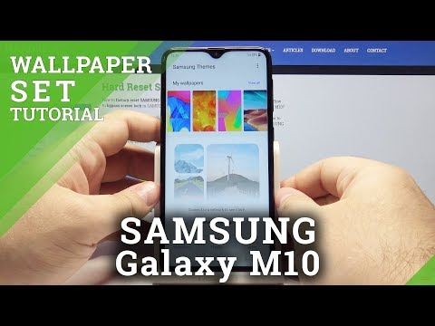 How To Change Wallpaper In Samsung Galaxy M10 Set Up Home Screen Lock Screen Wallpaper Youtube