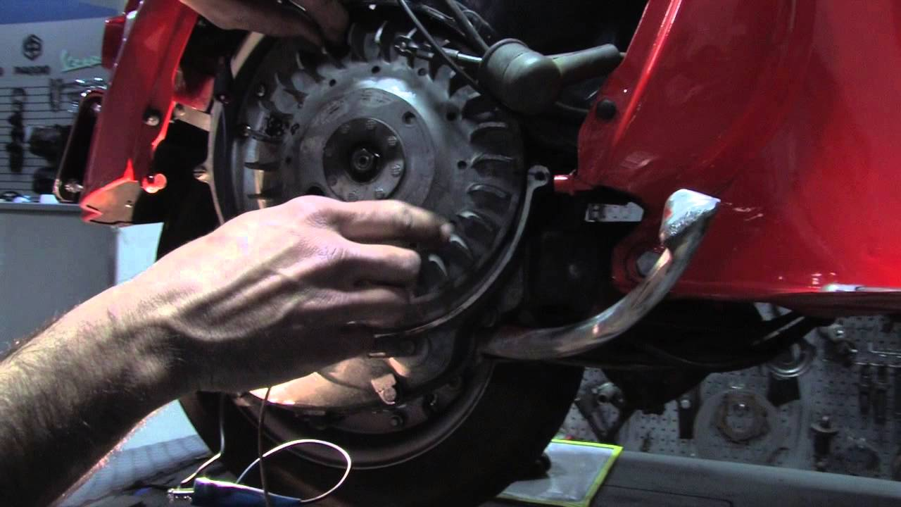 How To Set Timing On A Vintage Vespa Youtube Vna Wiring Diagram