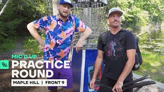 Big Jerm & Uli threaten each other with beatdowns | Maple Hill Mic'd Up Practice Round of Disc Golf