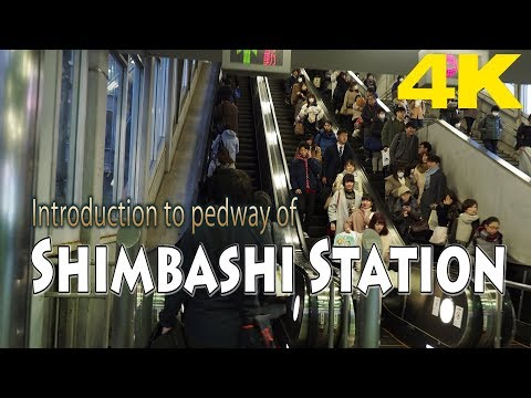 TOKYO.| 新橋駅.| Introduction to pedway of Shimbashi Station. [4K]