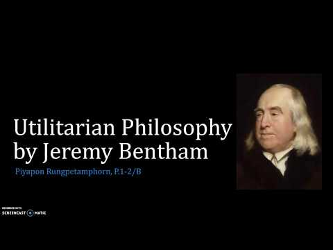 Jeremy Bentham's Utilitarian Philosophy (References included)
