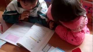 Chu Dien 1 Primary Schoo, Student pair interview, Bac Giang Province, Vietnam