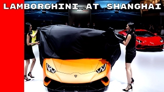 Lamborghini Huracan Performante & Aventador S Unveiling At Shanghai