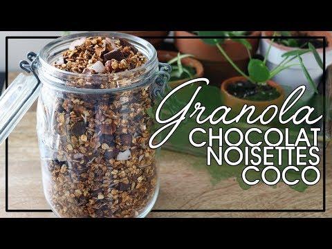 Ma recette du Granola Chocolat, Noisettes et Noix de Coco
