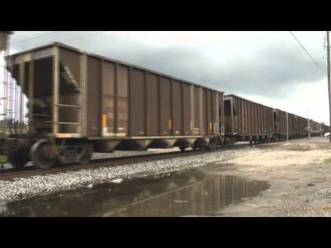 Chasing CSX N037 on the Brooksville Sub from Tampa,FL to Brooksville,FL 6-30-13