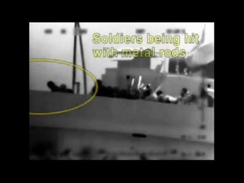 A brutal ambush from muslim terrorist's Gaza ship for Israel border control at sea