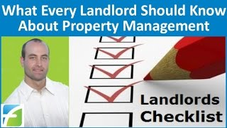 What Every Landlord Should Know About Property Management