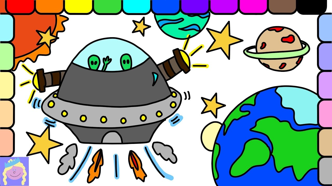 Learn How To Draw A UFO In Outer Space With This Easy