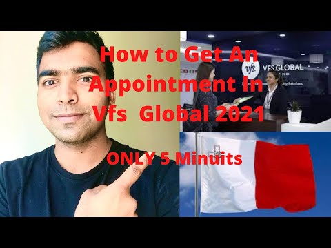How to Get An Appointment in Vfs global 2021   Vfs global Appointment only 5 minutes indir