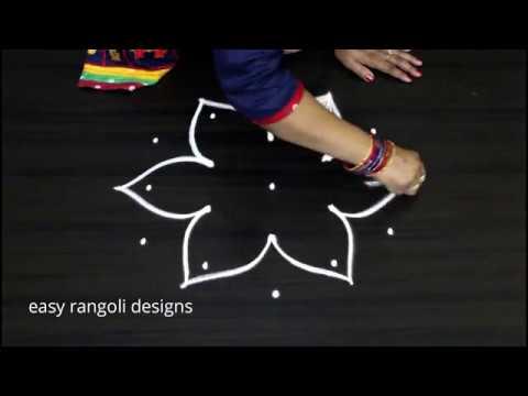 Creative rangoli  kolam  ||  beautiful flower designs ||  latest  muggulu