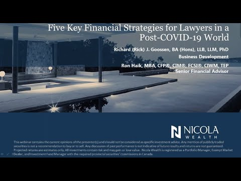 Five Key Financial Strategies for Lawyers in a Post-COVID-19 World