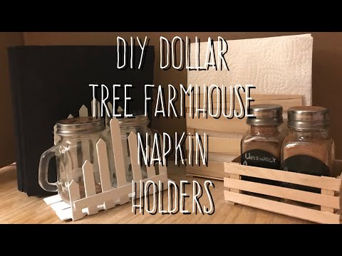 DIY Dollar Tree Farmhouse Napkin Holders