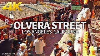 LOS ANGELES - El Pueblo De Historical Monument, Olvera Street, California, USA, Travel, 4K UHD