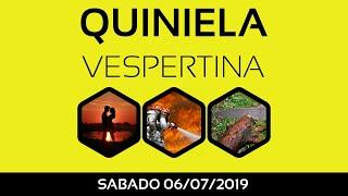 Resultado Quiniela VESPERTINA sabado 6 de Julio de 2019 [17:30 hs]