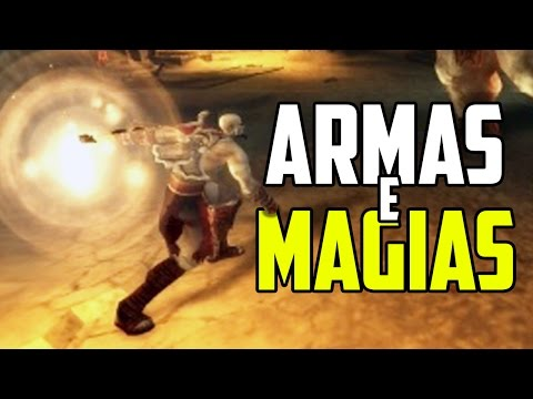 GOD OF WAR CHAINS OF OLYMPUS - TODAS AS ARMAS E PODERES!