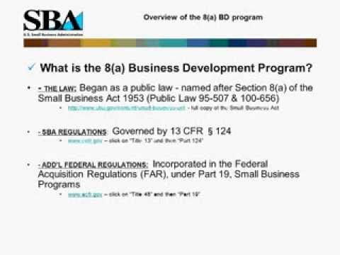 Webinar- Not Just Contracts: The SBA's 8(a) Business Development Program