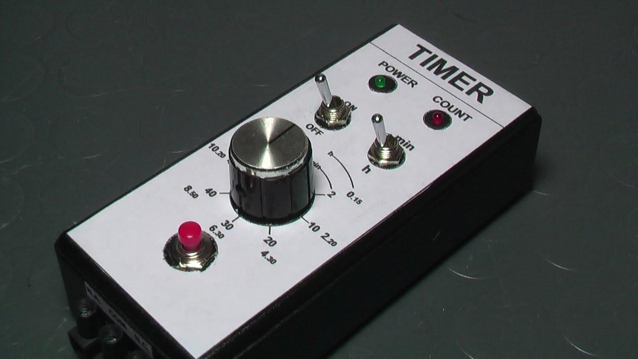 Schema Elettrico Timer Per Bromografo : Timer elettronico con ne fai da te youtube