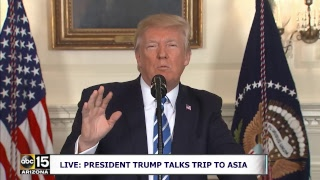 LIVE: President Trump talks about his trip to China and UCLA Basketball