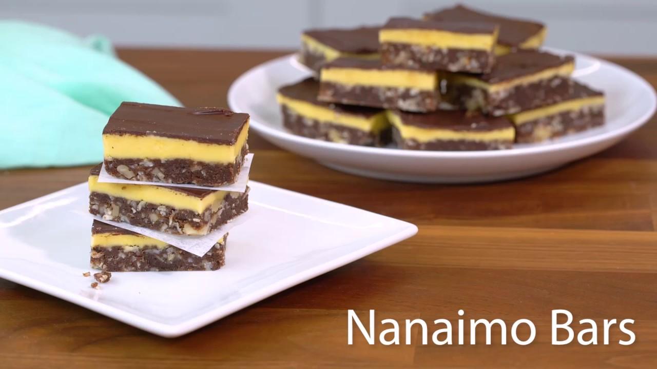 Easy Nanaimo Bars Recipe Youtube
