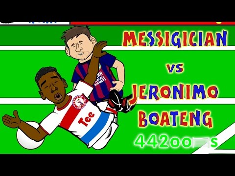💫Lionel Messi vs Jerome Boateng CONSPIRACY💫(Fall Goal Barcelona Bayern Munich 3-0 2015 Parody)