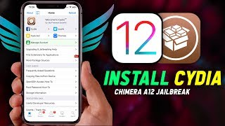 How to Install Cydia on iOS 12 for Chimera A12 Jailbreak! (Without Computer)