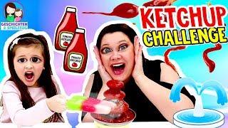 Ekel Ketchup Brunnen Challenge | Milchschnitte, Eis 🍦, Sushi 🍣 - Geschichten und Spielzeug