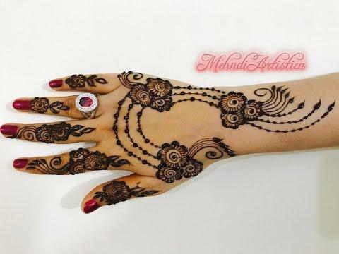 Mehndi Party Saree : Henna tips unique ornamental mehndi design beautiful designer