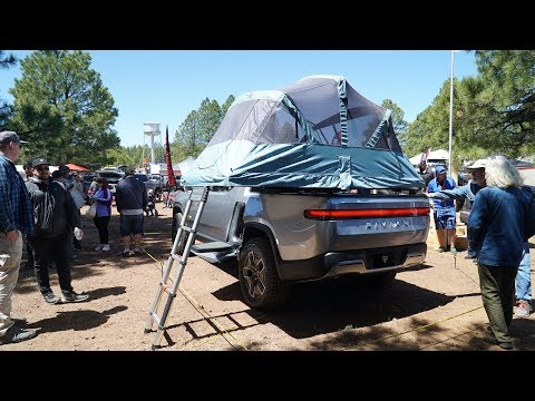 Rivian R1T Electric Truck Video Tour At Overland Expo