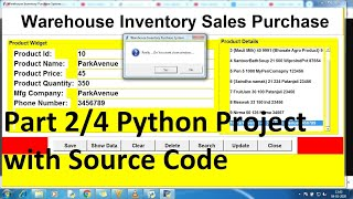 python projects for beginners with source code using Database | Python project | Python CRUD part 2