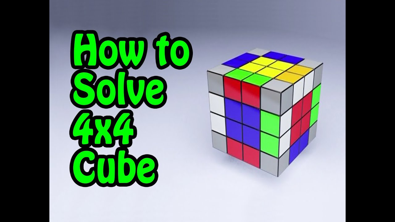 How To Solve 4x4 Rubiks Cube Tutorial By Cyclone Boys Youtube