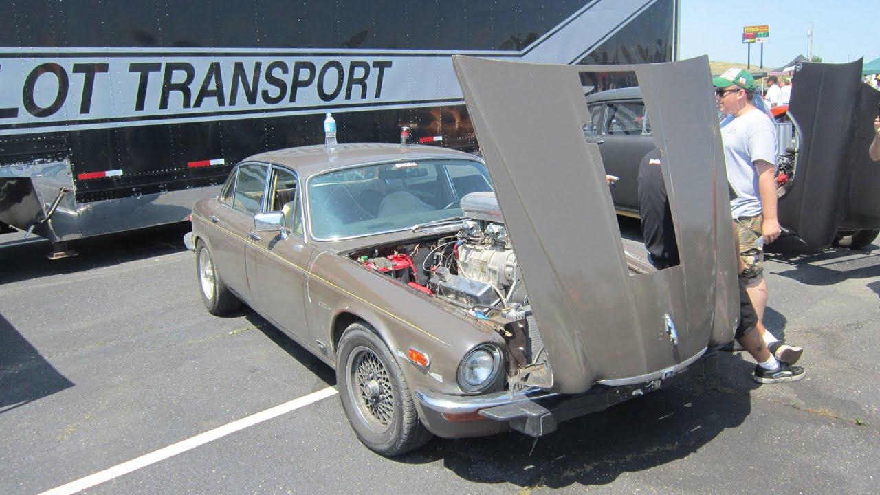 """Hot Rod Power Tour 2015 Roadkill s 1974 Jaguar XJ12L """"Draguar"""