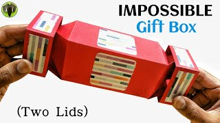 Impossible Gift Box With Two Lids (unique Design)   Diy Tutorial   888